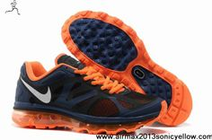 Fashion 487982-408 Light Midnight Metallic Silver Total Orange Nike Air Max 2012 Mens Casual shoes Shop