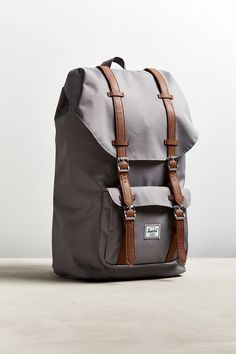 Slide View: Herschel Supply Co. Little America Backpack Leather Laptop Case, Leather Briefcase, Small Backpack, Laptop Backpack, Hiking Backpack, Herschel Rucksack, New Man Clothing, Under Armour Sweatshirts, Camo Purse