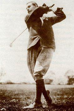 1898 Harry Vardon who won the first major professional tournament | Royal County Down Golf Club in Ireland, #golf #HarryVardon