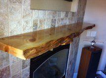 Ancient Bristlecone Pine Fireplace Mantle Shelf Log Slab Rustic Wood Furniture | eBay