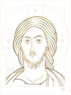 C01 Dessiner un visage - iconecontemporaine.catho.be Byzantine, Christ, Templates, Drawings, Cartoons, Dibujo, Contemporary, Draw, Belgium