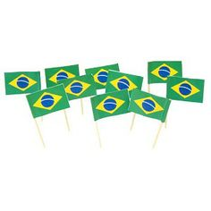 Brazilian Flag Toothpicks | Brazil | Theme Party Decorations & Supplies