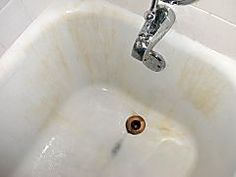 Beau How To Clean An Old Porcelain Enamel Bathtub Or Sink