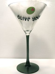 Valentine Love Olive You Painted/Crafted by PersonalizedbyCheryl, $10.95