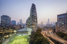 Innovation Tower Hong Kong, PolyU building - design by Zaha Hadid Architects - Jockey Club Innovation Tower, Hong Kong Polytechnic University building: PolyU design