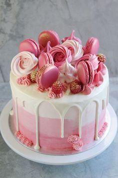 Красивые Торты, Красивые Торты, Восхитительные Торты, Розовый День Рождения, Тематически Оформленные Торты, Розовые Торты На День Рождения, Вкусные Торты, Дизайн Тортов