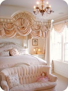 7 Handsome Cool Tricks: Shabby Chic Home Furnishings shabby chic sofa cabbage roses.Shabby Chic Interior Little Girl Rooms shabby chic deko herbst. Dream Rooms, Dream Bedroom, Home Bedroom, Bedroom Ideas, Bedroom Designs, Royal Bedroom, Peach Bedroom, Bedroom Inspiration, Rich Girl Bedroom