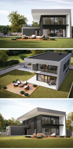 38 Stunning Modern Container House Design Ideas for Comfortable Life Every Day ⋆ neverendingfood.me 38 Stunning Modern Container House Design Ideas for Comfortable Life Every Day ⋆ neverendingfood. Home Building Design, Building A House, Modern Architecture House, Architecture Design, Modern Villa Design, Casas Containers, Bungalow House Design, Luxury Homes Dream Houses, Dream House Exterior