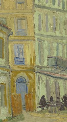 Detail of 'The Yellow House (The Street)', September Vincent van Gogh - Credits (obliged to state): Van Gogh Museum, Amsterdam (Vincent van Gogh Foundation). Van Gogh Wallpaper, Painting Wallpaper, Artist Research Page, Van Gogh Art, Van Gogh Museum, Van Gogh Paintings, Yellow Houses, Rare Photos, Vincent Van Gogh