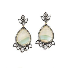 Roseark - Shop by Product: Fluorite and Diamond Earrings