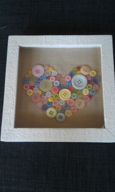 Pastel button heart picture