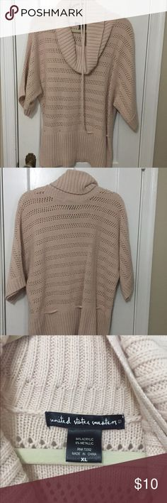 United States Sweaters light pink sweater United States Sweaters light pink sweater with cow neck and skinny sweater belt (to be worn over tank top) United States Sweaters Sweaters Cowl & Turtlenecks