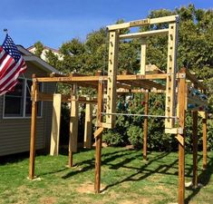 Our social Life Backyard Gym, Backyard Obstacle Course, Backyard Ideas, Ninja Warrior Course, Easy Woodworking Ideas, Outdoor Gym, Wood Working For Beginners, Academia, Feng Shui