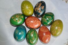 traditional polish easter eggs made by me & my mom & gradnfather