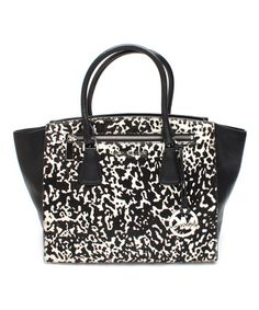 Look what I found on #zulily! Black & White Sophie Leather Satchel by MICHAEL Michael Kors #zulilyfinds