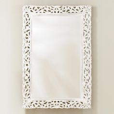Segovia Whitewashed Mirror | World Market