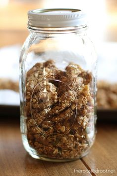 Homemade Walnut Granola       + How to make huge granola clusters