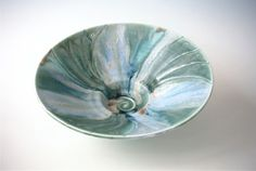 Ceramics by Steve Woodhead at Studiopottery.co.uk - Peacock bowl