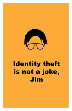 The Office TV Show Identity theft is not a joke Poster | Etsy