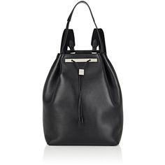 The Row Women's Backpack 11 ($3,900) ❤ liked on Polyvore featuring bags, backpacks, black, drawstring backpack bag, draw string backpack, drawstring knapsack, day pack backpack and the row backpack