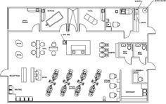 Beauty Salon Floor Plan Design Layout - 2385 Square Foot @R G P