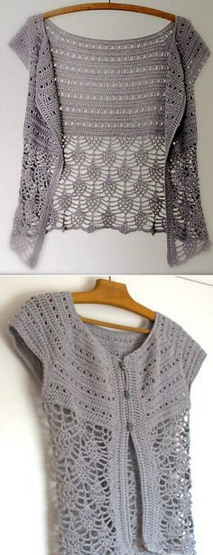 DIY Crochet Lace Jacket Free Pattern Ideas