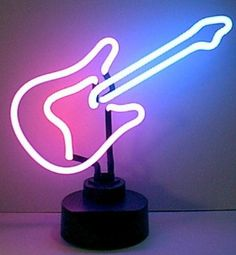 Shine brighter with our Guitar Neon Sculpture! Each of our stand up Neon Lights will fill your home or business with a fun and stylish flare. Pink Neon Lights, Neon Light Signs, Led Neon Signs, Bang Bang, Neon Bedroom, Music Bedroom, Ibuki Mioda, Music Signs, Neon Lamp