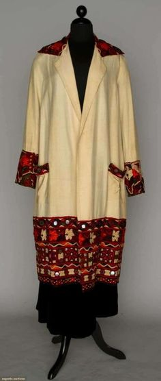 EMBROIDERED DAY COAT, 1920s by Terese Vernita
