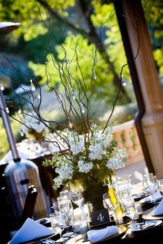 Wedding, Reception, Centerpiece, White, Brown, Table, Number, April smith photography