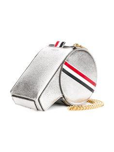 Thom Browne Rwb Stripe Leather Whistle Bag - Silver Novelty Bags, Preppy Mens Fashion, Unique Bags, Classic Man, Thom Browne, Giorgio Armani, Brand You, Mini Bag