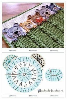 s media cache originals 15 cute crochet elephant applique, it is very easy to learn how to create this cutiesuper inšpirácia na hačkovanú deku pre miminkoChild Knitting Patterns Baby Knitting Patterns Supply : byAdorable teddy bear graph Crochet Teddy, Crochet Bear, Cute Crochet, Crochet Crafts, Crochet Dolls, Crochet Projects, Crochet Animals, Diy Crafts, Crochet Blanket Patterns