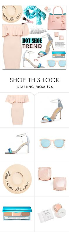 """""""Hot Shoe Trend ~ FSJ Shoes (#7)"""" by alexandrazeres ❤ liked on Polyvore featuring WearAll, Prada, Le Specs, Eugenia Kim, Kate Spade, Estée Lauder, Herbivore and See Design"""