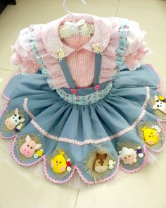 Baby Girl Party Dresses, Dog Dresses, Little Girl Dresses, Baby Dress, Little Girls, Farm Animal Birthday, Cowgirl Birthday, Dior Kids, Cabbage Patch Kids Clothes