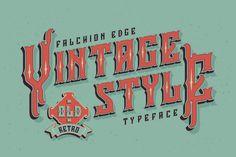 Falchion Edge font on Behance