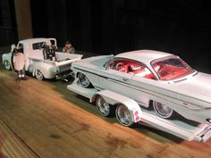 """1 18 Scale """"Getting The Lolo to The Car Show""""Custom One of A Kind Lowrider Set New Model Car, Model Cars Kits, Rc Model, Model Show, Chevrolet Impala, Chevy, Lowrider Model Cars, Hot Rods, Hobby Cars"""