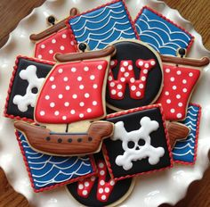 PIrates Sugar Cookie Collection by NotBettyCookies on Etsy, $38.00