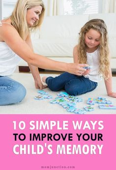 10 Simple Ways To Improve Your Child's Memory: if you want to know how to improve kids memory, we have some useful tips for you. Here you go! #Parenting