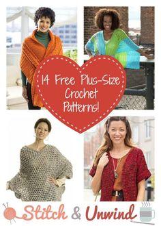 14 Free Plus-Size Crochet Patterns - Free Crochet Patterns - (stitchandunwind)