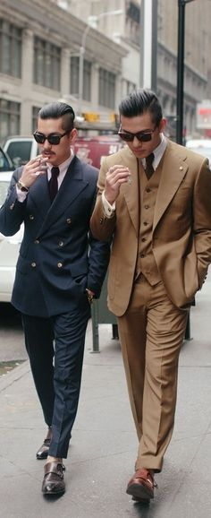 Nice suits but you need socks