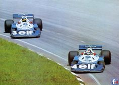 Depailler & Peterson at the 1977 Brazilian GP. No shortage of grip at the front of the P34!