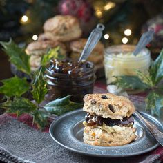 Christmas scones - brandy scones with mincemeat and marzipan. A festive twist on a classic afternoon tea treat. Christmas Afternoon Tea, Christmas Tea Party, Christmas Lunch, Christmas Cooking, Christmas Treats, Christmas Recipes, Christmas Foods, Christmas Buffet, Christmas Hamper