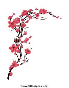 Image result for cherry blossom silhouette tattoo