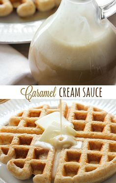 This Caramel Cream Sauce goes perfectly on waffles, pancakes, or french toast. It tastes like caramel in cream form. And you make it in the blender!