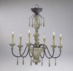 Provence 6 Light Wrought Iron and Wood Chandelier French Country | Home & Garden, Lamps, Lighting & Ceiling Fans, Chandeliers & Ceiling Fixtures | eBay!