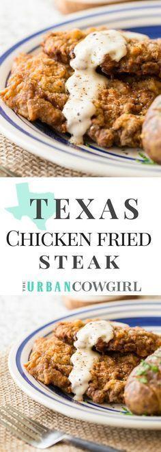 The Ultimate Texas Chicken Fried Steak – Lebensmittel Ideen Beef Recipes, Chicken Recipes, Cooking Recipes, Recipies, Cubed Steak Recipes, Cooking Beef, Game Recipes, Cooking Tips, Beef Dishes