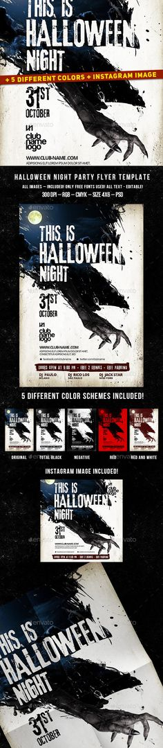 Halloween Party Flyer Halloween party flyer, Party flyer and - zombie flyer template