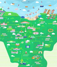 Jakarta Illustrated Map