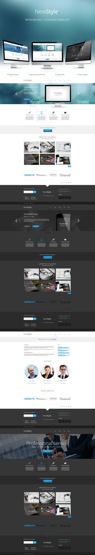 New Style modern web template by ~Nalge on deviantART #webdesign