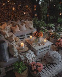 Outdoor Rooms, Outdoor Gardens, Outdoor Living, Outdoor Furniture Sets, Outdoor Decor, Backyard Patio Designs, Balcony Design, Garden Design, Home Decor Inspiration