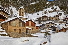La Massana, Andorra .- Que nieve, que nieve… Paisajes de Europa aún más bonitos en blanco